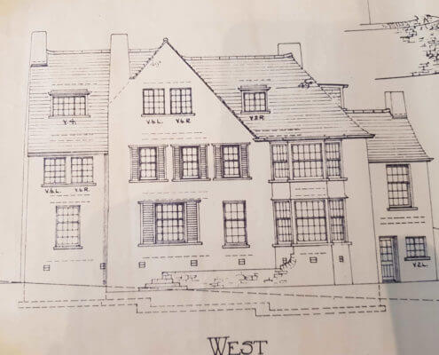 Bolsover Surveyors. Building Plan of an old traditional house